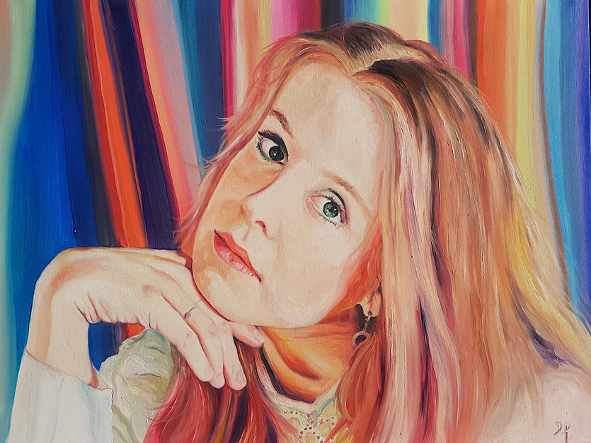 Rebekah Fitch Loose Ends Oil Painting