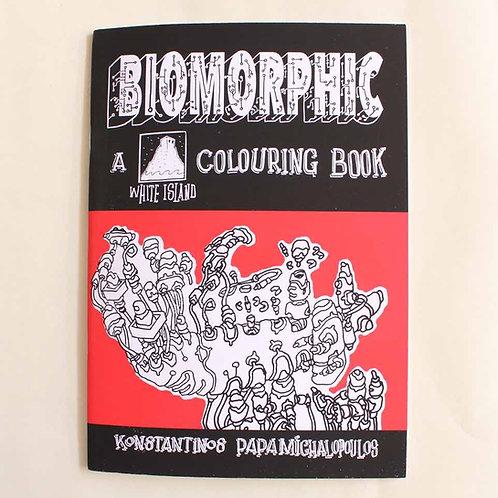 Biomorphic colouring book