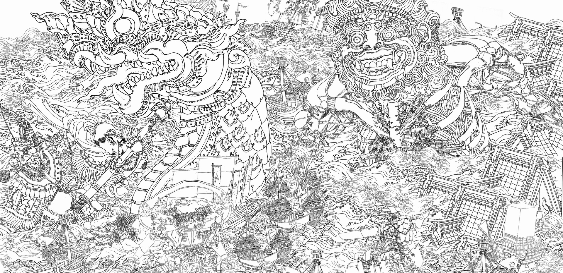 "Final design for ""The Triumph of Lambros Katsonis"""