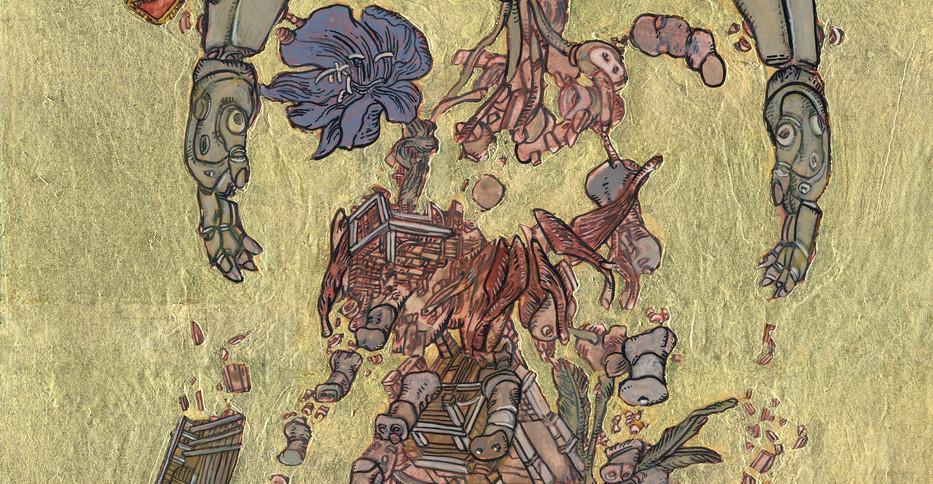 Study for Kanaris as a Colossus