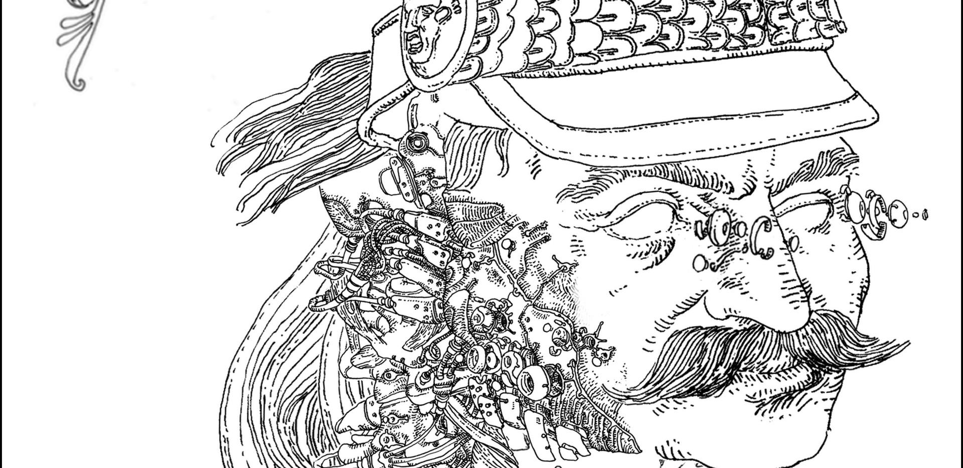 "Final design for the ""Portrait of Theodoros Kolokotronis"""