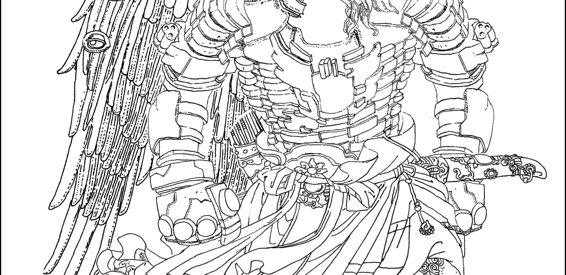 Final design for a Skenderbei portrait