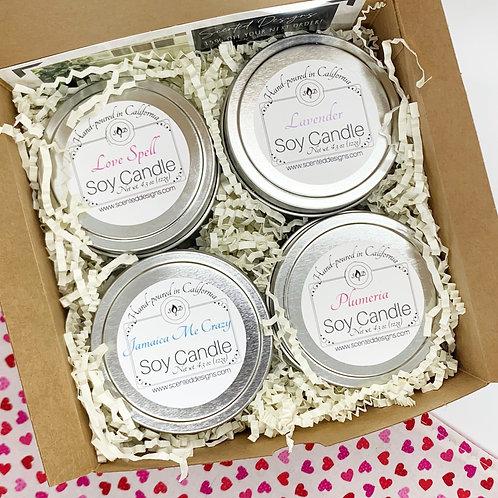 Candle Gift Box - 4 Tins