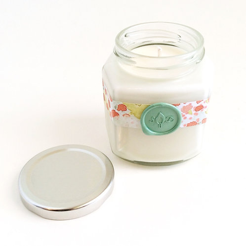 Grapefruit Mint Stationery Soy Candle