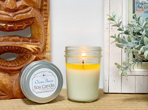 Ocean Breeze Soy Candle