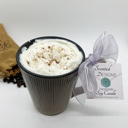 Hazelnut Latte Soy Candle - Large Woodsy Mug