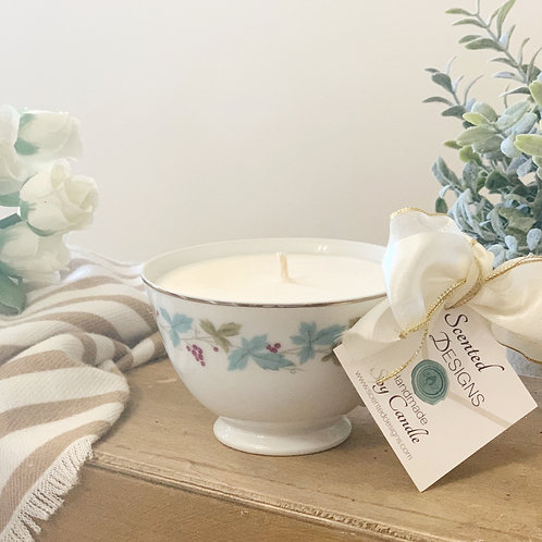 Teacup Candle - Grapes Design