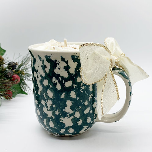 Gingerbread Latte Soy Candle - Green Marble Mug
