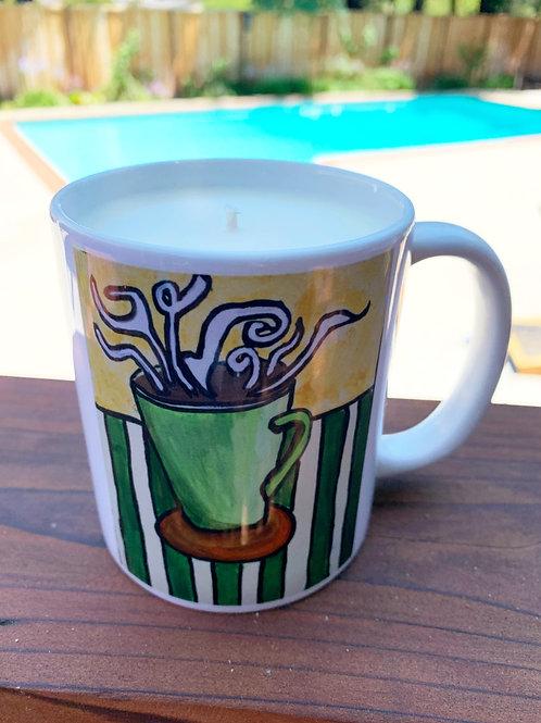 Cup of Joe Mug Candle - Artwork by ShaneTarkingtonArt