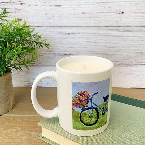 Bicycle Mug Candle - Artwork by ShaneTarkingtonArt