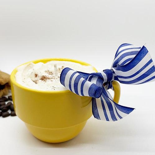 Vanilla Latte Soy Candle - Yellow Mug