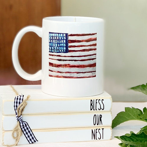 American Flag Mug Candle - Artwork by ShaneTarkingtonArt