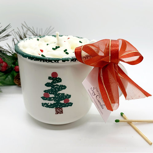 Peppermint Mocha Soy Candle - Tree Mug