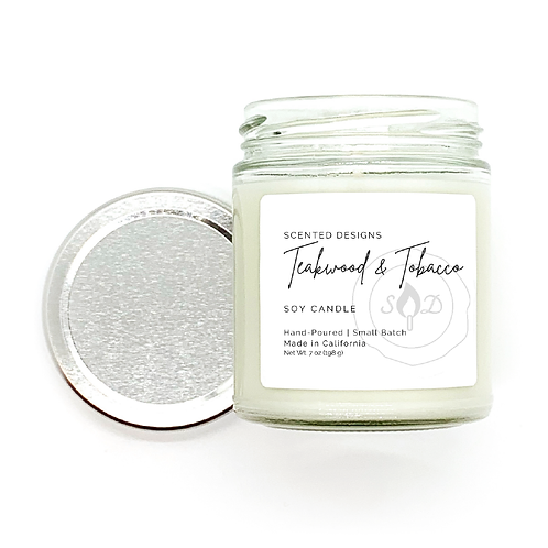 Teakwood and Tobacco Soy Candle