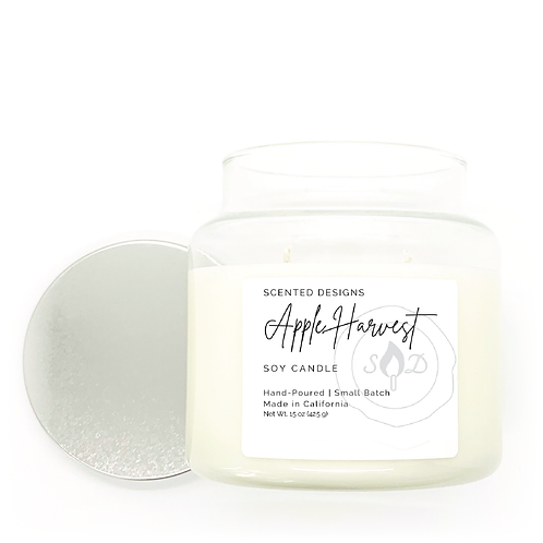 Apple Harvest Apothecary Jar Candle