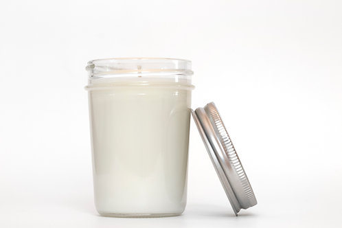 Natural Soy Candle Glass Jar side view