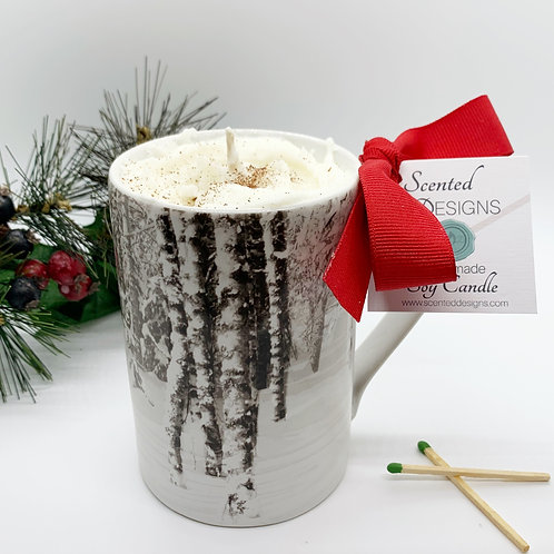 Gingerbread Latte Soy Candle - Snowy Forest Mug