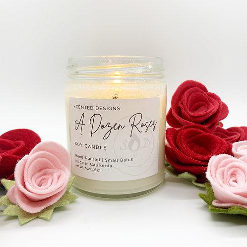 A Dozen Roses Soy Candle