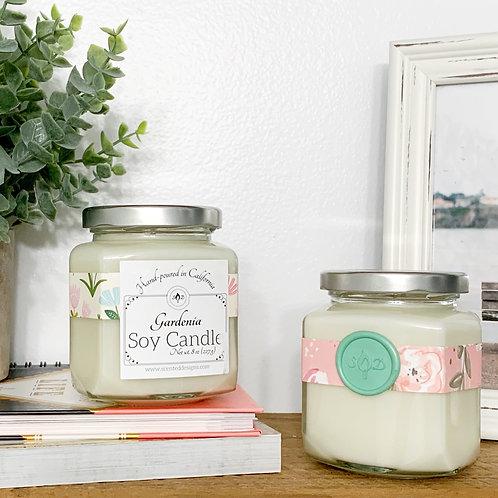 Gardenia Stationery Soy Candle