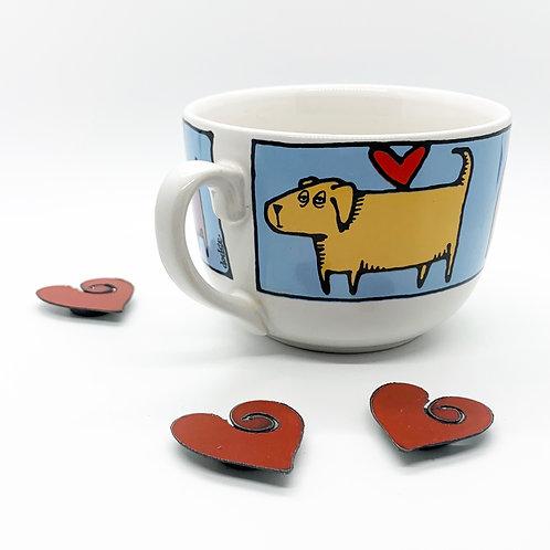 Custom Order: Dogs & Hearts Mug Candle