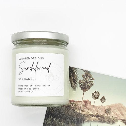 Sandalwood Soy Candle