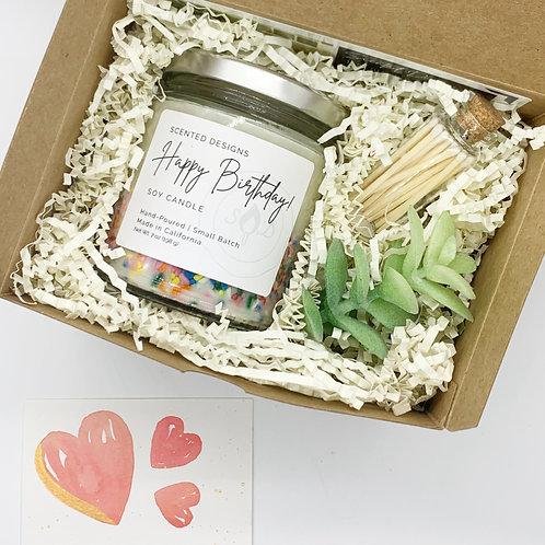 Candle Gift Box - Happy Birthday
