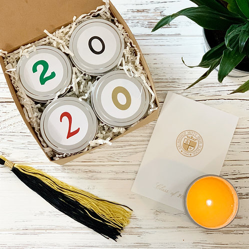 Happy Graduation Candle Gift Box - 4 Tins Sampler Pack