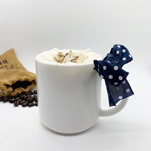 Vanilla Latte Soy Candle - White Mug