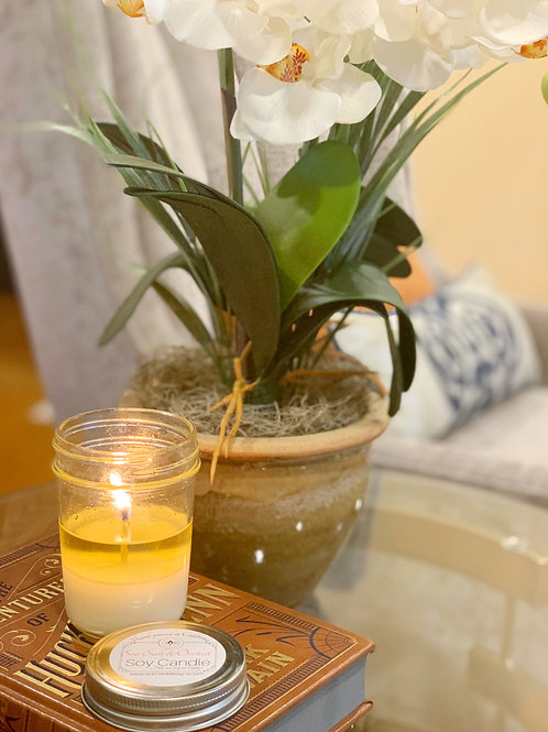 Sea Salt and Orchid Scented Candle