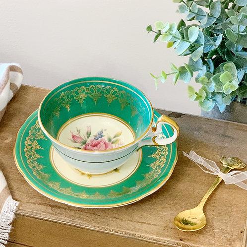Custom Order: Teacup Candle - Vintage Aynsley English Fine Bone China