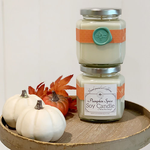 Pumpkin Spice Stationery Soy Candle