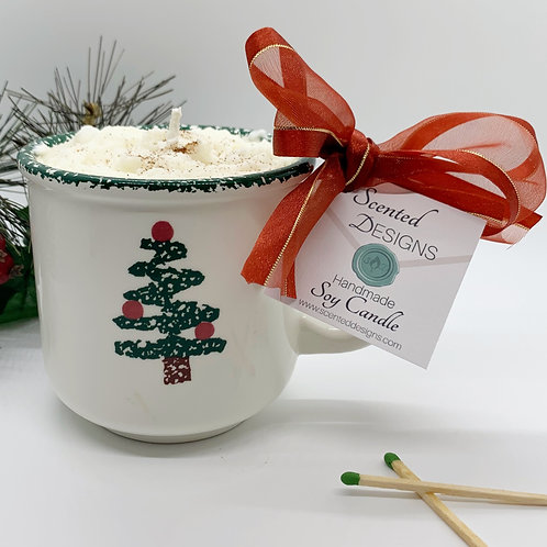Gingerbread Latte Soy Candle - Xmas Tree Mug