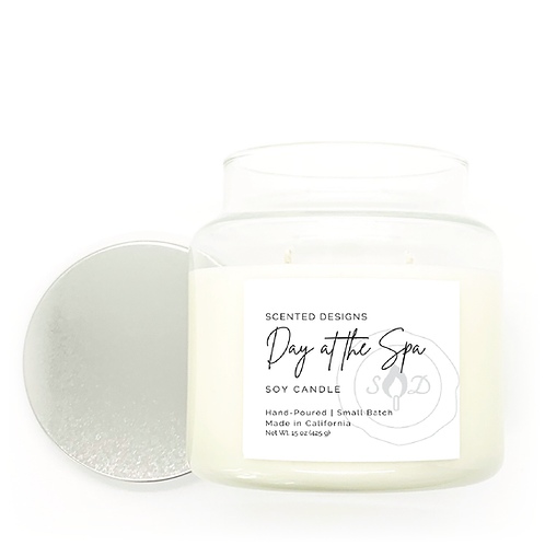 Day at the Spa Apothecary Jar Candle
