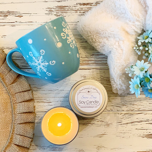 Snow Day Scented Candle