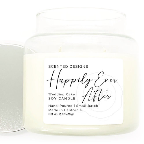 Happily Ever After Soy Candle - Wedding Cake