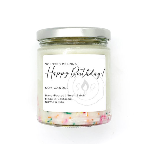 Celebrate Soy Candle with Sprinkles
