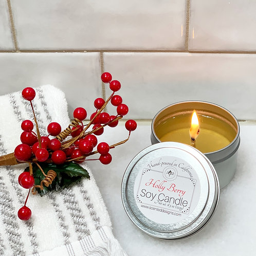 Holly Berry Soy Candle