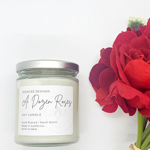 A Dozen Roses Soy Candle