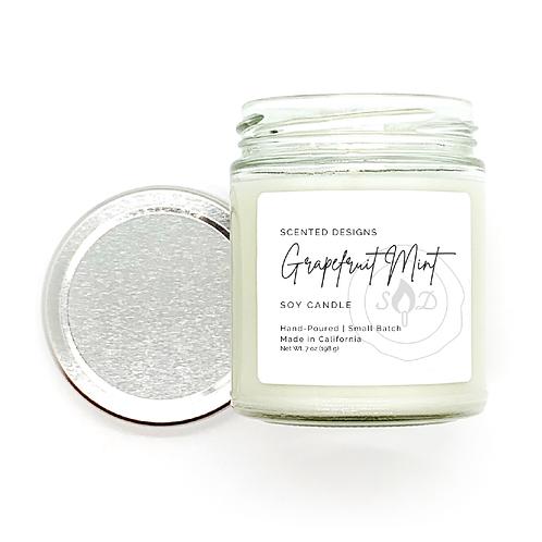Grapefruit Mint Soy Candle