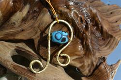 murano laiton pendentif turquoise [800x6
