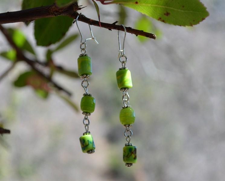 murano boucle d'oreille vert pomme [800x
