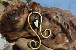 murano laiton pendentif corse ivoir [800