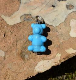 pendentif ourson bleu ciel