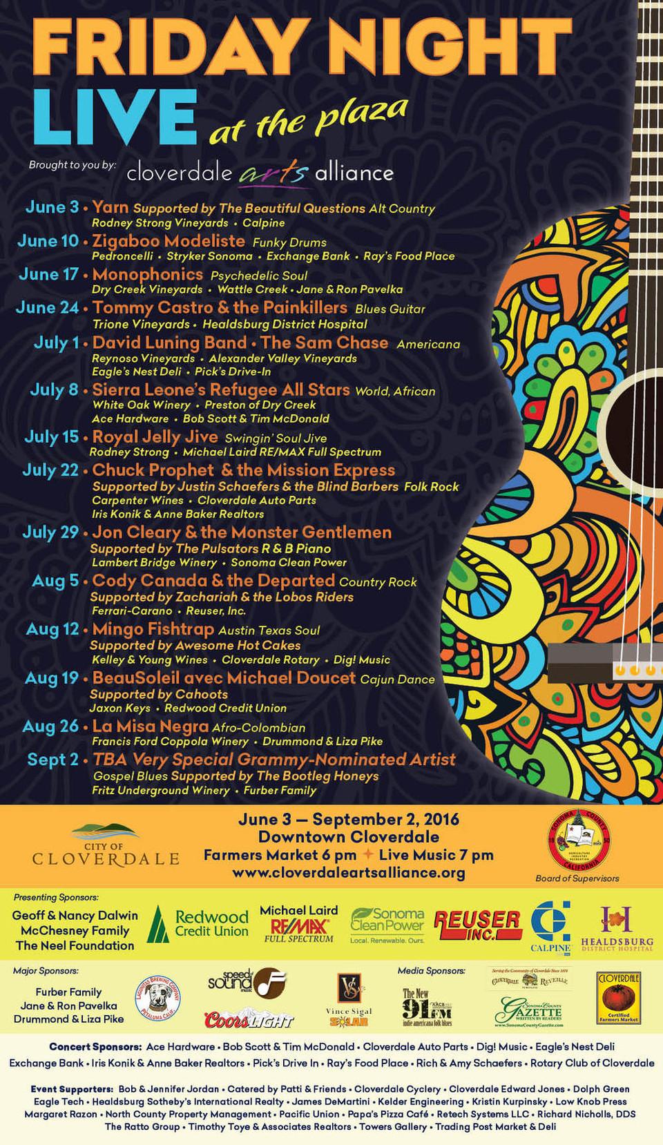 Cloverdale Arts Alliance - Friday Night Live!