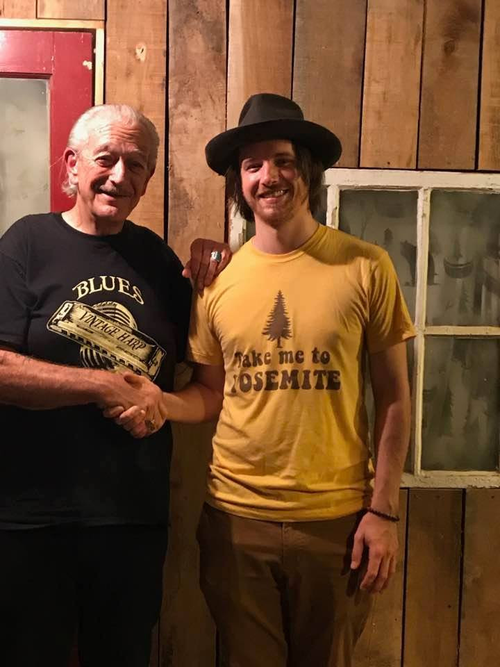 David and Charlie Musselwhite after Clarksdale on Solo Tour!