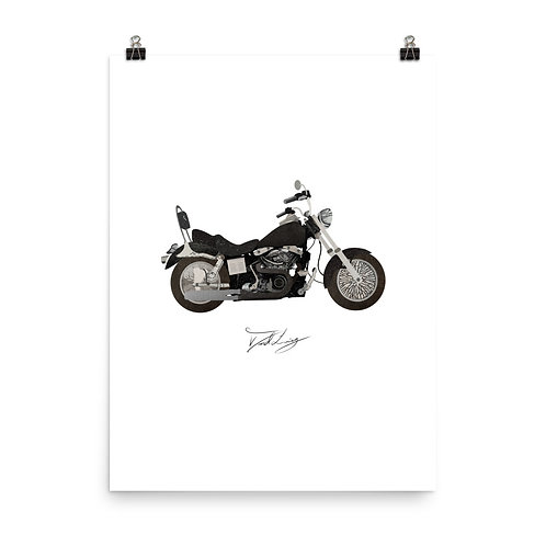 Motorcycle Collage Poster