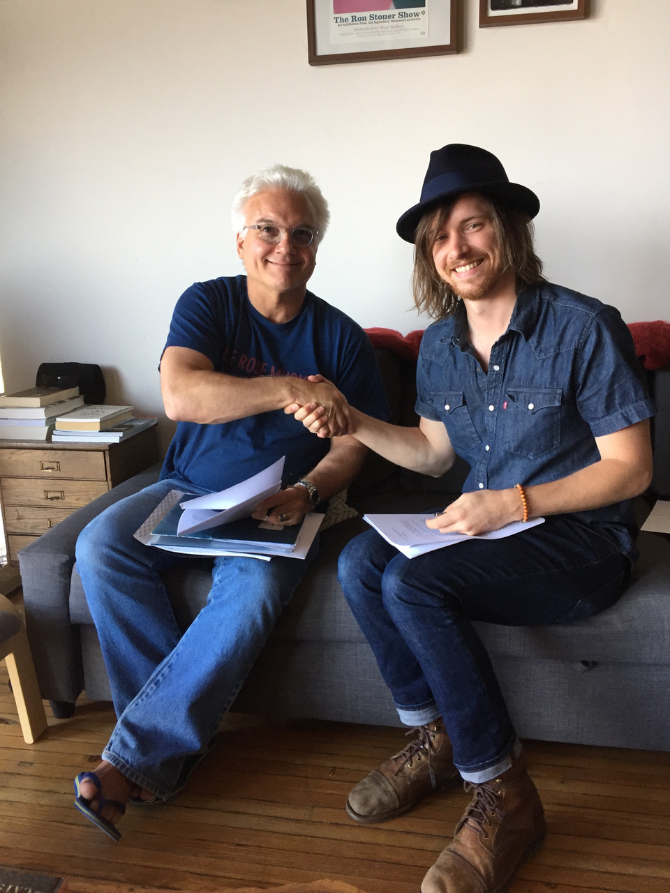 I just signed a record deal with HWY 61 Music!