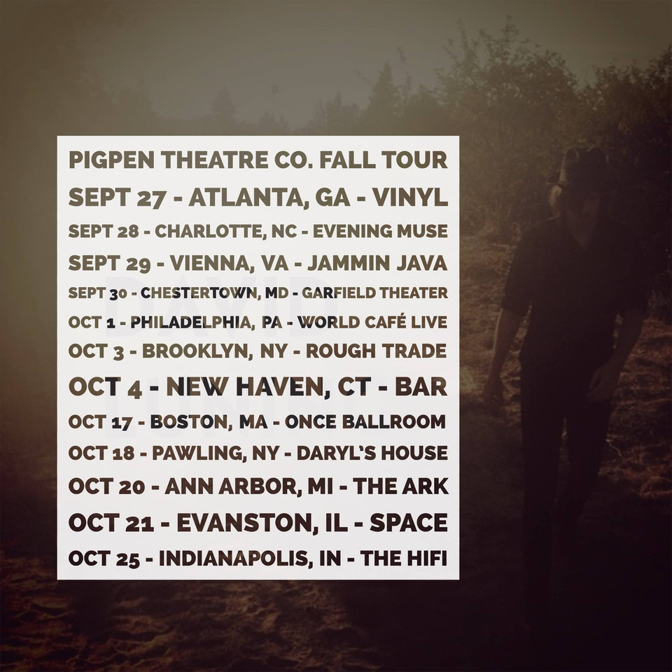 David Luning goes on the road with PigPen Theatre this fall.