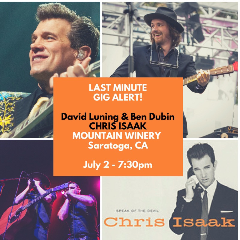 David Luning and Ben Dubin perform at Mountain Winery opening for Chris Isaak July 2
