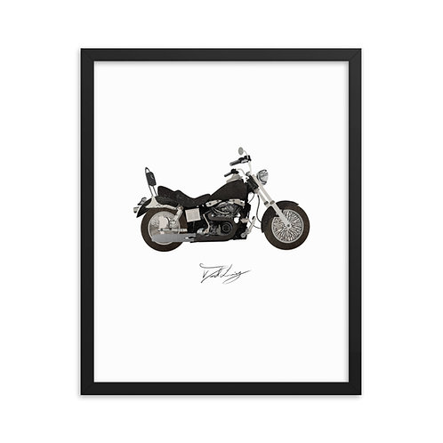 Framed Motorcycle Collage poster